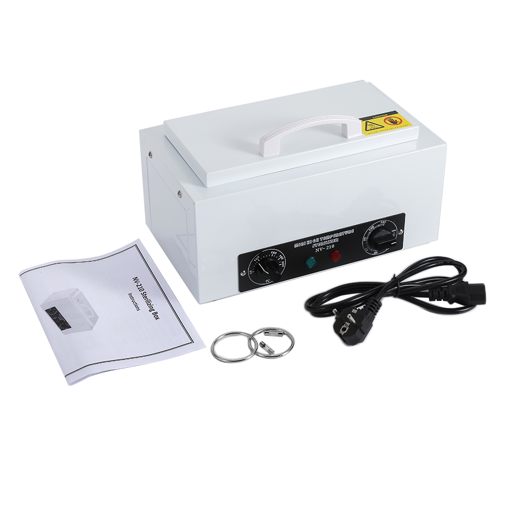 Professional High Temperature Sterilizer Box Nail Art Nails Sterilizer Nail Tools Manicure Machine UV Disinfection Sterilizer nail sterilizer disinfect machine high temperature for metal tattoo art nipper tools with clean pot 10l
