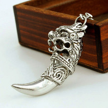 Wolf Teeth Keyring Pendant Keychain for Men Animal Charms Norse Viking Amulet Key Ring Chain Dropshipping