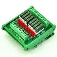 Slim DIN Rail Mount DC5V Source PNP 8 SPST NO 5A Power Relay Module PA1a 5V