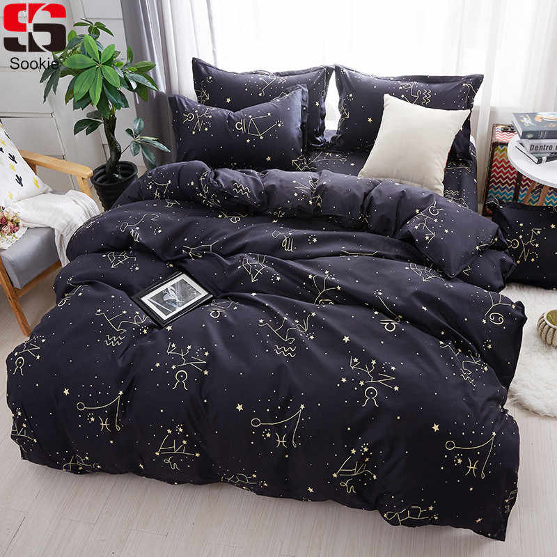 b8db3d179bd0 Detail Feedback Questions about Sookie Zodiac Bedding Set Twin Full Queen King  Size 3pcs Bed Linen Constellation Bedclothes Stars Print Duvet Cover Sets  on ...