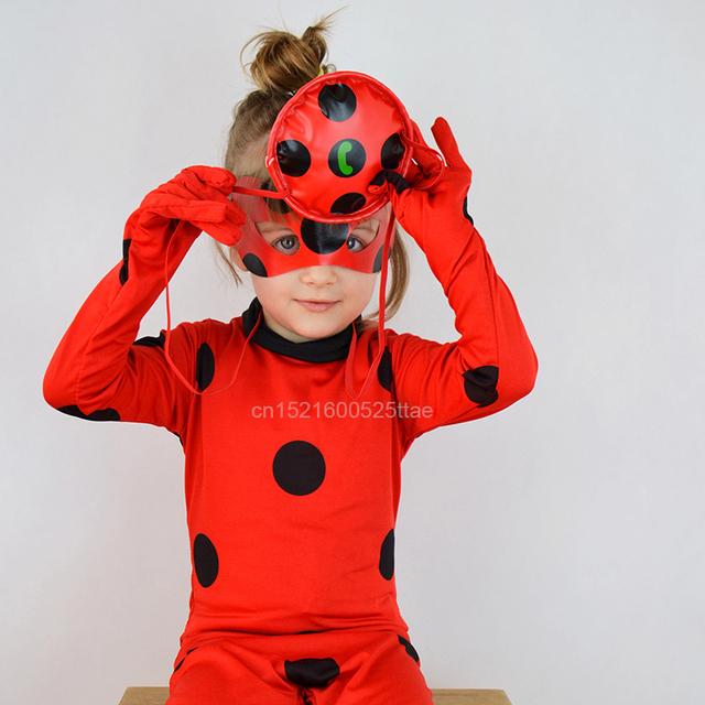 Ladybug Halloween Costumes Jumpsuit Mask Bag