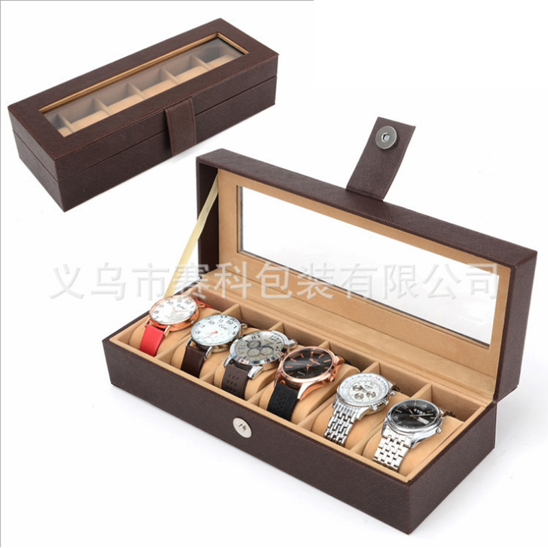 6 grid jewelry display watch box wooden watch box storage box black leather download transport box 2015 high quality black mdf mounted outside black pu leather 3 grid watch display box storage box free shipping ag442