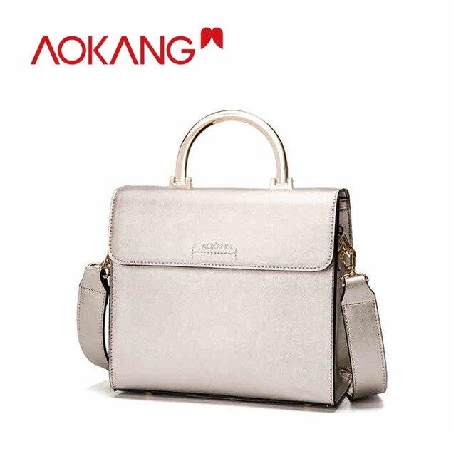 AOKANG Brand Designer Handbags High Quality Women Bag genuine Leather  Handbags Fashion Handbags Shoulder Bags 86a3158f3a