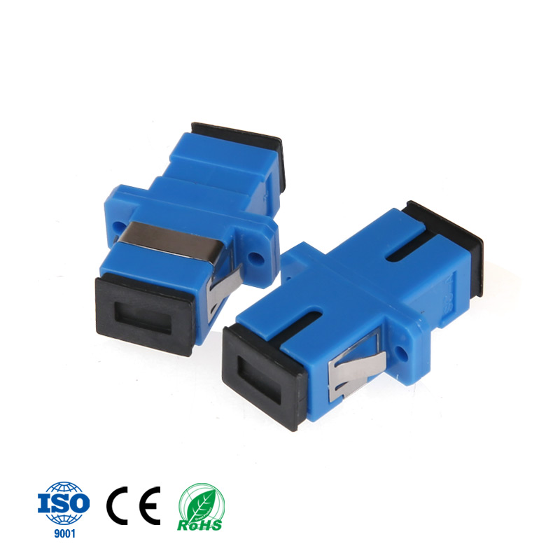 400PCS parcel SC to SC Simplex mode Fiber optic Adapter single mode Optical flange SC SC