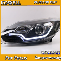 KOWELL Car Styling For Ford FOCUS headlights of Audi A8 style For FOCUS LED head lamp led DRL front light Bi Xenon Lens xenon HI