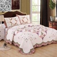 Домашний Текстиль 100% постельное белье из хлопка кластеры/Роскошный 3 стиль одеяло постельные принадлежности набор королева хлопок стегано