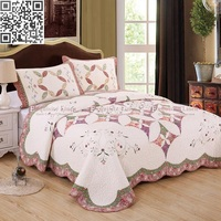 Home Textile 100% cotton Bedspread Clusters/Luxury 3 Style Comforter Bedding Set Queen Cotton Quilted Bedcover