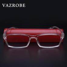 Vazrobe TR90 Transparent Glasses Men Women 2017 Clear Eyeglasses Frames Optical lens prescription spectacles Nerd High Quality
