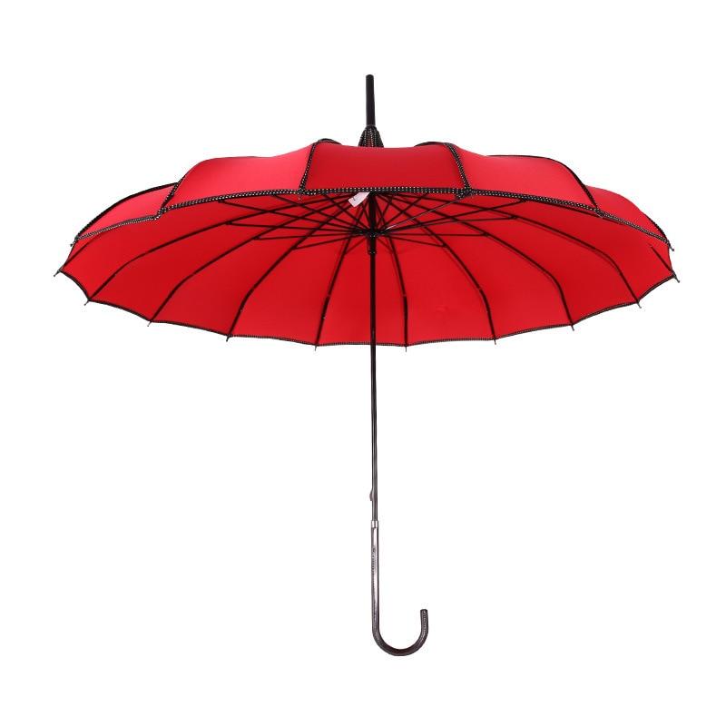 Mano larga protección UV paraguas lluvioso y soleado colorido Pagoda paraguas fotografía apoyos princesa regalo YS061