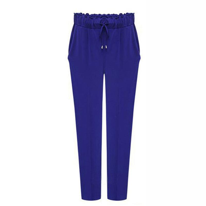Liva Apparel Store Plus Size Pants Women Casual High Waist Harem Pants Trousers Female Loose Stretch Slack Full Length Pants Fashion Sweatpants