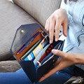 2017 Hot Moda Feminina Carteiras bolsa sólida bolsa de Couro PU Longo Mudança saco de embreagem Senhora marca Dinheiro Passaporte cartão de telefone moeda bolsa