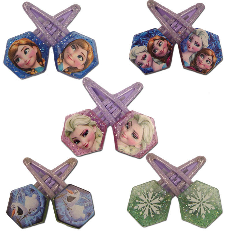 Toys & Hobbies Dolls Accessories Self-Conscious 2pcs/lot Disney Doll Accessories Frozen Hair Clips Children Hair Accessories Hairpins Elsa Anna Acrylic Clips Screwed