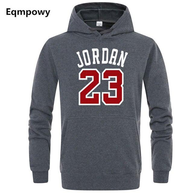 48124178438 Autumn 2018 New Women/Men's Casual Players JORDAN 23 Print Hedging Hooded  Fleece Sweatshirt Hoodies Pullover Size M-XXL
