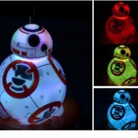 15cm Star Wars 7 Force Awaken BB8 Droid Colorful Gradients Light Toy For Kids 2016 New