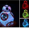 15 cm Star Wars 7 Força Despertar BB8 droid gradientes Coloridos de luz brinquedo para crianças 2016 New Robot droid BB-8 abotoaduras figura brinquedo