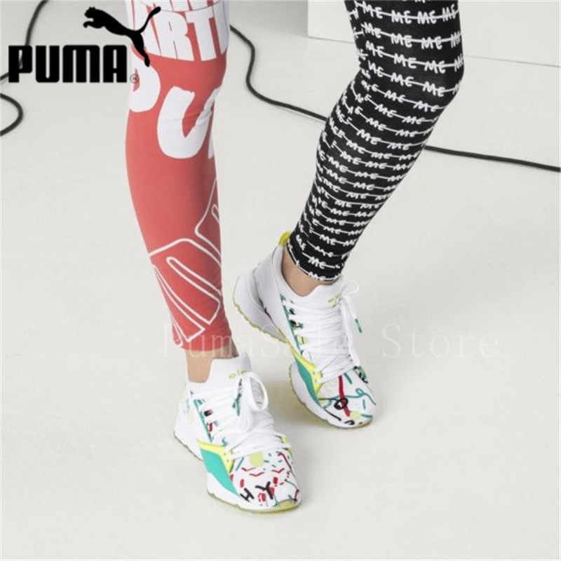 7aa6b423f971 ... 2018 PUMA X SHANTELL MARTIN Muse Maia Sneakers Graffiti Women Puma Shoe  New Arrival Training Sports ...