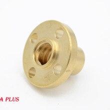 3D yazıcı parçaları pirinç flanş somun için CNC 3D yazıcı Reprap T8 kurşun vida 8mm kurşun 8mm kurşun 4mm veya 2mm