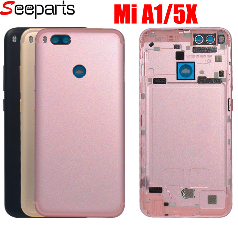 <font><b>Xiaomi</b></font> <font><b>Mi</b></font> A1 <font><b>Battery</b></font> <font><b>Cover</b></font> MiA1 Rear Door Back Housing Case For <font><b>Xiaomi</b></font> <font><b>Mi</b></font> <font><b>5X</b></font> <font><b>Battery</b></font> <font><b>Cover</b></font> With Power Volume Button Replace image