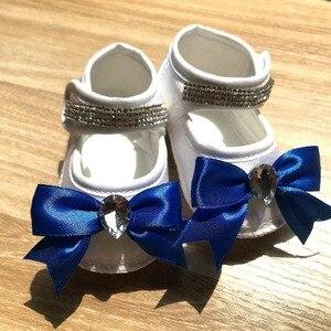 Image 5 - 新生児服セットベビーのセットラインストーンクラウン 0 3 ヶ月帽子 + ボディスーツ + 手袋 + シューズ 4 部品少年少女ジャンプスーツ服