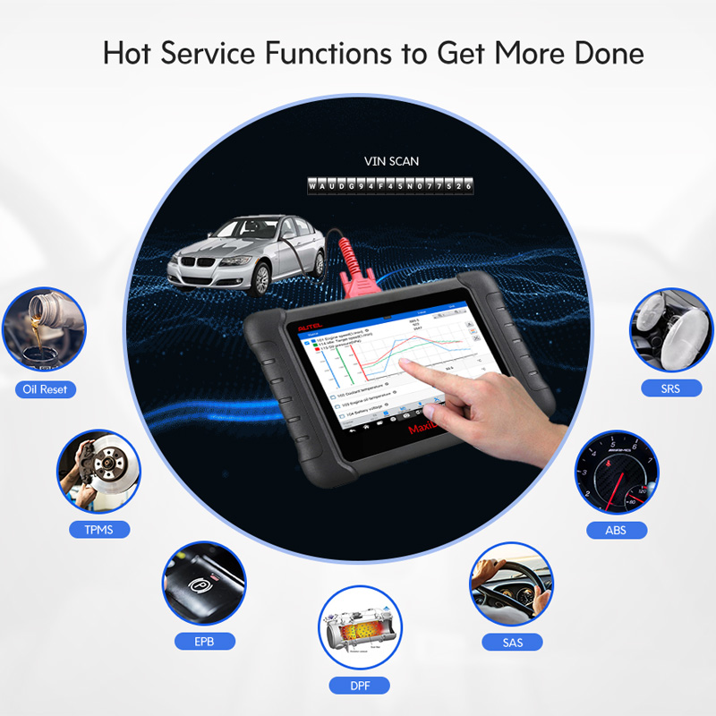 Image 3 - Autel MAXIDAS DS808 Diagnostic Tool OBDII OBD 2 Car Auto Diagnostic Scanner Tool TPMS Programming Key Programmer Maxisys MS906-in Engine Analyzer from Automobiles & Motorcycles