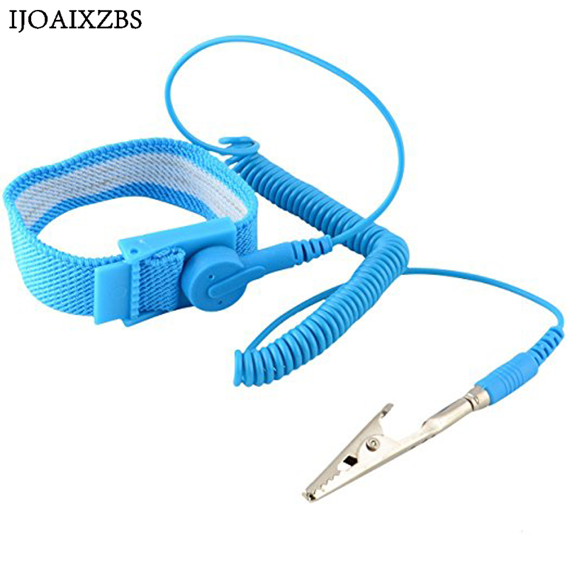 Adjustable Anti Static Bracelet Electrostatic ESD Discharge Cable Reusable Wrist Band Strap Hand With Grounding Wire(China)