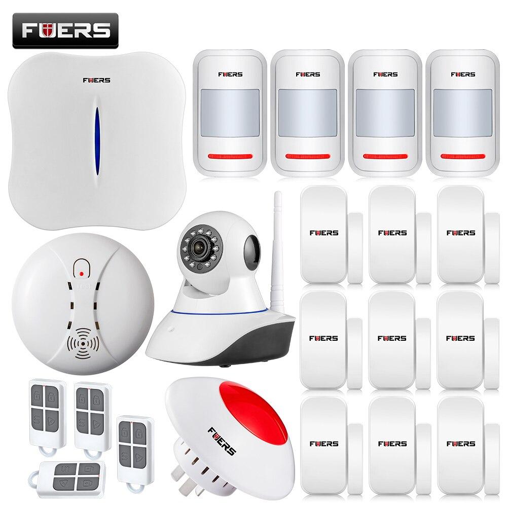 bilder für WIFI/PSTN Alarmanlage IOS/APP Steuer Wireless Alarm Alarmanlagen Sicherheits Hause mit Blinkende Sirene/Touch-tastatur/Ip-kamera