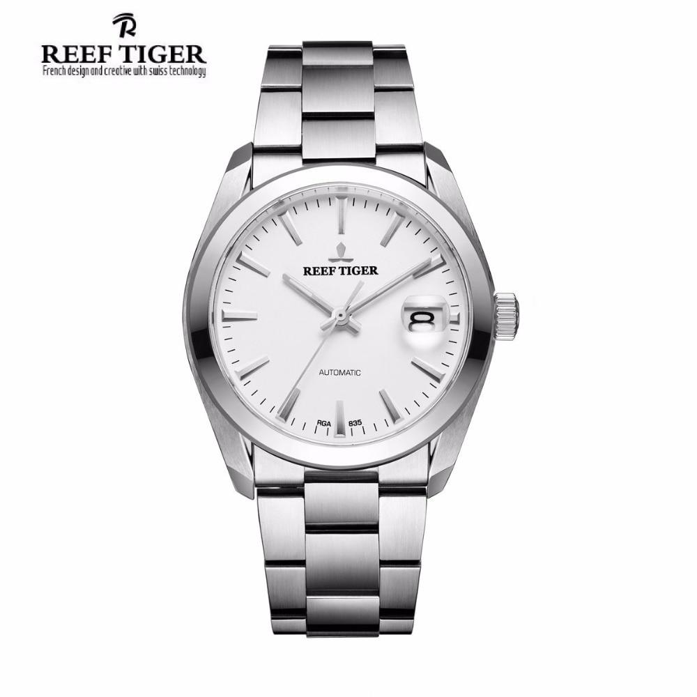 Watches Perpetual-Calendar Crystal Reef Tiger Stainless-Steel Sapphire Mens Waterproof
