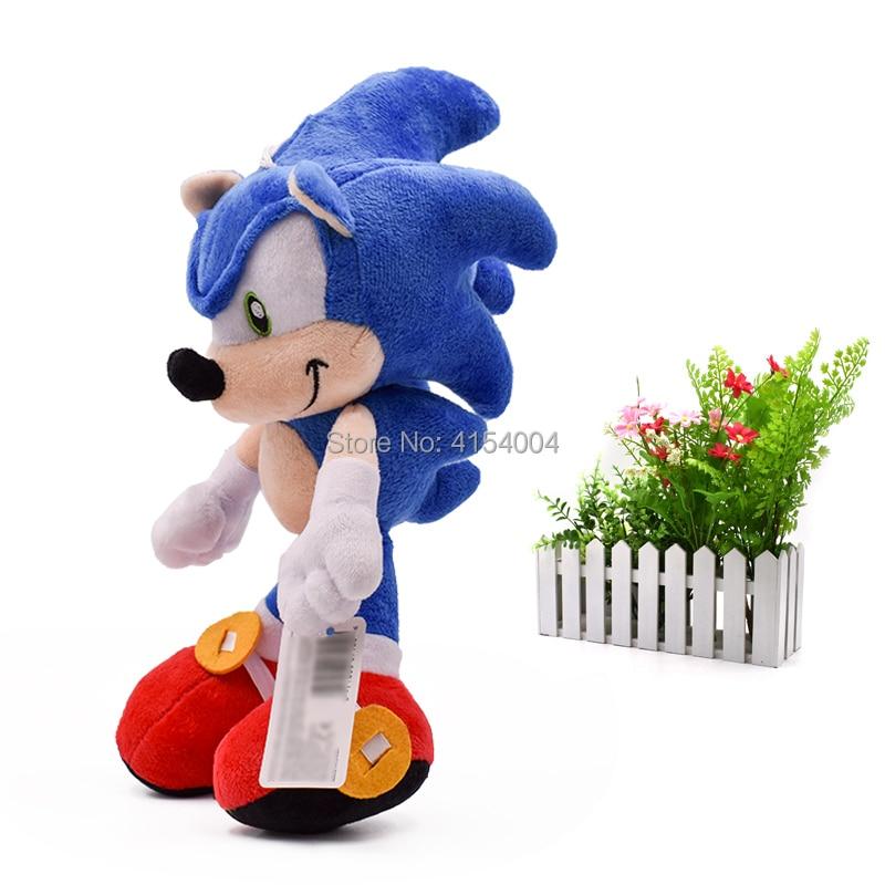 20 Pcs/lot Sonic Soft Doll Blue Sonic Cartoon Animal Stuffed Plush Toys Figure Dolls Halloween Christmas Gift For Children