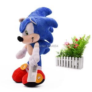 Image 1 - 20 pcs/lot Sonic Soft Doll Blue Sonic Cartoon Animal Stuffed Plush Toys Figure Dolls Halloween Christmas Gift For Children