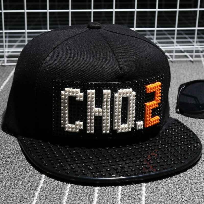 0f3538dd04e CHO.2 Personality Legos cap high quality blocks DIY legos baseball hat  trucker snapback hat