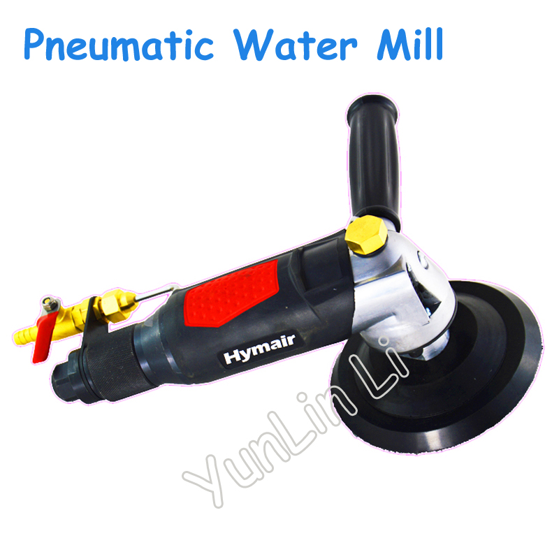 Water-injection Pneumatic Water Mill Machine 5 Professional Air Wet Sander Polisher Stone Polishing Machine vibration type pneumatic sanding machine rectangle grinding machine sand vibration machine polishing machine 70x100mm