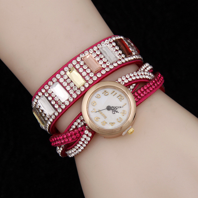 c8cdd94d0a8 2016Novelty Hot Pink Girl Fancy Gift Casual Hand Accessories For Women  Bracelet Watches GoGoey Geneva Relogio Feminina WatchZB72
