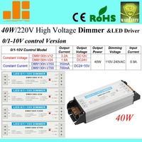 Free ShippingHot sale 40W 0/1 10V LED Dimmer, 220V 0 10V Dimming switch, 1 channel DM9130H V series