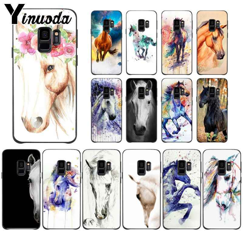 Yinuoda cavalo animal DIY Protetor de Luxo High-end Caixa do telefone Para Samsung Galaxy s9 s8 mais nota 8 note9 s7 note5 funda