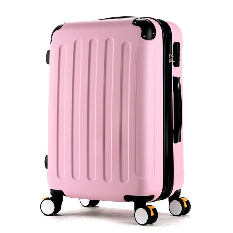 Wholesale!High quality 28inches candy color abs pc travel luggage bags on brake universal wheels,hardside suitcase for girl