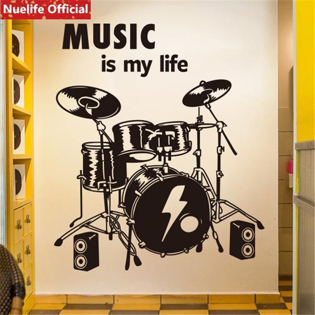 Art music wall stickers living room bar dance instrument classroom training room study room decoration