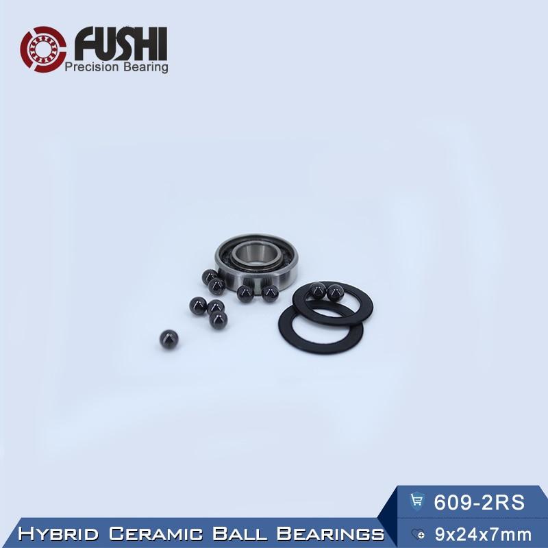609 Hybrid Ceramic Bearing 9*24*7 mm ABEC-1 ( 1 PC) Industry Motor Spindle 609HC Hybrids Si3N4 Ball Bearings 3NC 609RS 1pcs 71901 71901cd p4 7901 12x24x6 mochu thin walled miniature angular contact bearings speed spindle bearings cnc abec 7
