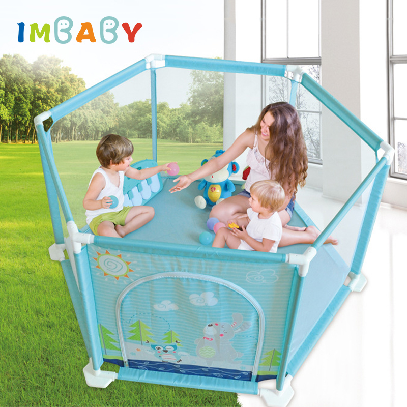 IMBABY Baby Playpens Arena Ball Pool Safe BPA Material Safety Barriers Play Yard Fence For Newborns Infants Children's Playpen