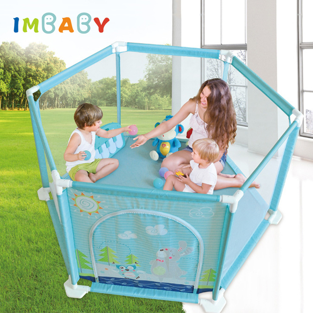 IMBABY Baby Playpens Arena bola piscina seguro BPA Material barreras de seguridad jugar valla de patio para recién nacidos niños