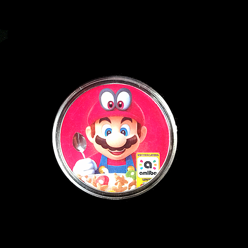 1Pcs Super Mario Cereal NFC Card Of Amiibo Printed Collection Coin Tag Cereal Delicious image