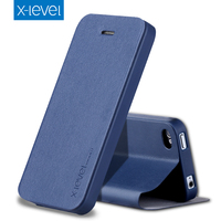 X Level Business Style PU Leather Flip Phone Case For Apple IPhone 4 4s 3 5inch