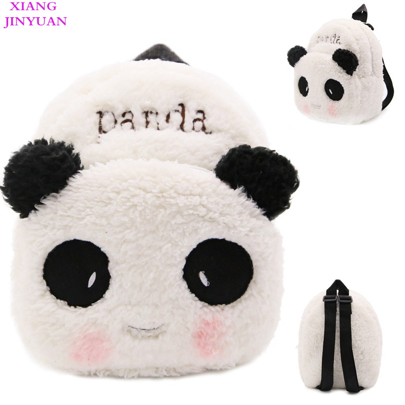 1-3 Years Old Child 2018 Cute Panda School Bags for Boys Fashion White Felt Baby Mini Backpack Lovely Red Bow-tie Girls Swisswin