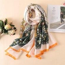 2019 luxury brand summer women scarf fashion quality soft silk scarves female shawls s wraps bandana