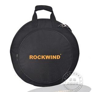 """Image 1 - プロフェッショナルポータブル肩バックパックは負荷 4 個 20 """"デラックスシンバルバッグキャリングケースドラムシンバル楽器ギグ黒"""