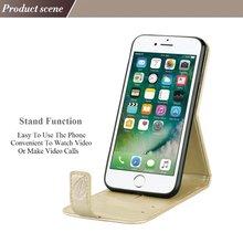 Ss для Galaxy S6 S7 край Примечание 5 7 чехол бумажник кобура крышка с карты цветок Роскошный чехол Капа для iPhone 5, 6 6 Plus 7 7 Plus