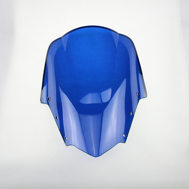 Blue Motorcycle Wind Deflector Windshield Windscreen Universal For YAMAHA FZ1S 2006 2007 2008 2009 2010 2011 06-11