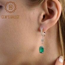 Gem's Ballet 4.43ct натуральный зеленый агат 925 пробы серебро ювелирные изделия Висячие серьги ювелирные изделия уникальный подарок для женщин