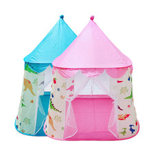 Play Tent Toy Dinosaur Princess Castle Portable Foldable Playhouses Ball Pool Pit Indoor Outdoor Soft Toys For Kids Children(China)