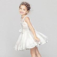 Ребенка 2016 летней рукавов сетки с бантом лоскутные девушки туту платье принцессы малыш кружева цветок ну вечеринку одежда