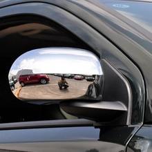 Внешний chrome Аксессуары для dodge caliber out side задней двери вид резервного копирования зеркало декоративное покрытие рамка стикер 2008 2011